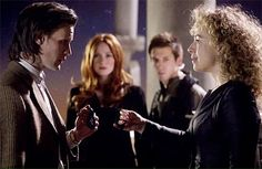 The Doctor, River Song, Rory and Amy