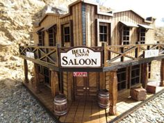 This The Bella Union Saloon Deadwood Old West Miniature Rustic Building is just one of the custom, handmade pieces you& find in our collectibles shops. Western Saloon, Old West Saloon, Western Art, The Doors, Play Houses, Bird Houses, Old Western Towns, Old West Town, Kiosk Design