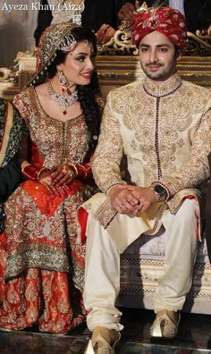 Ayeza Khan n Danish Taimoor Baraat Pics what a beauty yr Asian Wedding Dress, Asian Bridal, South Asian Wedding, Pakistani Couture, Pakistani Wedding Dresses, Ayeza Khan Wedding, Pakistan Bride, Pakistan Wedding, Bridal Outfits