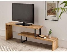 Wooden Tv Stands, Office Desk, Home Furniture, Sweet Home, Woodworking, Interior Design, Table Tv, Salon Design, Amazon Fr