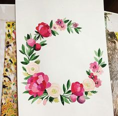 flower initials with leaves and ivy