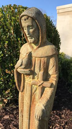 St Francis of Assisi garden statue by ReginaAnnes on Etsy