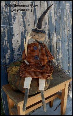 pumpkin dolls   Prim Pumpkin Doll Chelsee and her Pumpkin EPATTERN