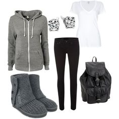Winter outfit. Cute and comfy.