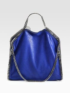 Stella McCartney - Shaggy Falabella Fold-Over Small Tote Blue Handbags, Purses And Handbags, Ladies Handbags, Luxury Handbags, Fashion Handbags, Fashion Bags, Stella Bag, Stella Mccartney Bag, Bags Online Shopping