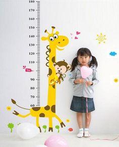 Giraffe Höhe Diagramm Abziehbild  Wachstum Diagramm
