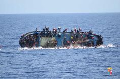 26 MAY: The deadly capsizing of a migrant boat in the Mediterranean has been caught on camera by the Italian navy as it rescued 562 people. The trawler overturned apparently as a result of people on board rushing to one side after spotting a rescue ship and five were found dead. People clung desperately to the deck or dropped into the sea. Italy's Bettica patrol boat threw life rafts and jackets while another Italian ship sent rescue boats. SEE WHAT HAPPENED: bbc.in/Capsized  PHOTO: ITALIAN…
