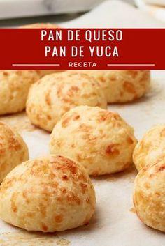 Pao de Queijo Recipe from Food Network Pan Bread, Bread Baking, Bolivian Food, Bread Recipes, Cooking Recipes, Colombian Food, Bread Rolls, Sin Gluten, Food Network Recipes