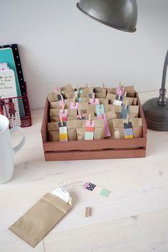 Atelier Fête Unique // {DIY} Mon calendrier de l'avent spécial thé