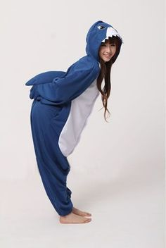 cf0d7431ea 5 Weird and Wonderful Adult Onesie Costumes and Kigurumi - Who doesn t want  to be a shark  You get to swim around all day