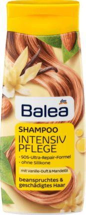Strapaziertes und geschädigtes Haar mit Pflege verwöhnen: Balea Intensivpflege-Shampoo mit SOS-Ultra-Repair-Formel pflegt das Haar vom Ansatz bis in die...