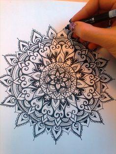 Mandala by pen. Meditative practice, create something beautiful and calm. Mandala by pen. Meditative practice, create something beautiful and calm. Mandala Design, Mandala Art, Mandala Doodle, Mandalas Painting, Mandalas Drawing, Moon Mandala, Mandala Tapestry, Tattoo Henna, Mandala Tattoo