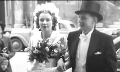 Harald Quandt, stepson of Joseph Goebbels and only surviving member of his family, on his wedding day with his wife Inge Bandekow in 1951. He died in a plane crash in 1967 leaving behind his wife and five daughters, now billionaires
