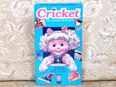 Cricket VHS 80's Talking Doll ~ Animated Video 1987 ~ Around the World with Cricket ~ Playmates Toy Company ~ Hi-Tops Video 80's Nostalgia