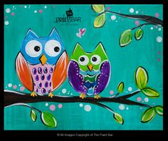 http://www.thepaintbar.com/admin/paintings/January122014419CutiePatootieOwls.jpg