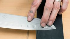 Guide to using knife sharpening stones Sharpening Stone, Knife Sharpening, Gerber Knives, Artificial Stone, Quality Kitchens, Steel Plate, Knife Making, Kitchen Knives, Picture Credit
