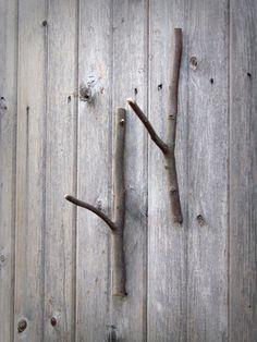 floating branch hooks / / set of 2 by IvyAxe on Etsy, $18.50