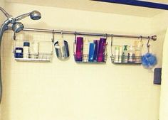 Use Extra Shower Curtain Rods to Increase Bathroom Storage & More « MacGyverisms