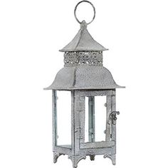 Grey Vintage Table Top Lantern