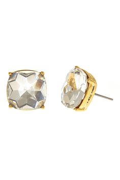 """The Blake Earrings feature a blingy glass stone. Shine on. Stud earrings. Surgical steel posts.    Measures: 0.5"""" diameter   Blake Earrings by Fornash. Accessories - Jewelry - Earrings - Studs Virginia"""