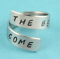 SALE  The Best Is Yet To Come Wrap Ring  by StampinOffThePath