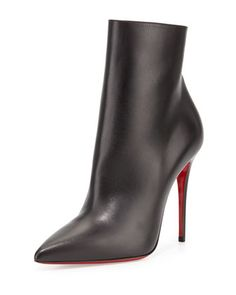 So Kate Bootie Red Sole Ankle Boot, Black by Christian Louboutin at Bergdorf Goodman.