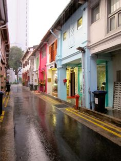 Singapore's Haji Lane, full of independent boutiques, vintage goods, and local designers