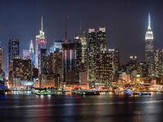 With this night cityscape photography guide, you're going to learn how to sharpen your cityscape photography and also how to take great photos at night. Manhattan New York, Lower Manhattan, Empire State, New York City, Times Square, City Road, City Wallpaper, Travel Wallpaper, New York Photos