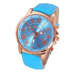 NEW Best Quality Geneva Platinum Watch Women PU Leather wristwatch casual dress watch reloj ladies gold gift Fashion Romantic Fashion Watches, Chronograph, Watches For Men, Women's Watches, Pu Leather, Quartz, Geneva Platinum, Stuff To Buy, Accessories