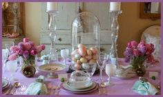 My Easter table April 5, 2015.