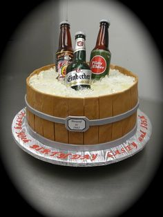 Sugar Beer Bottle Cake This cake was quite the learning experience....but a lot of fun to make! Thank you to all fellow CC sugar artists...