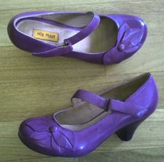 Petal in a lovely and vibrant dark purple, with a very comfortable two and a half inch heel. $119.95.  http://elosshoes.com/