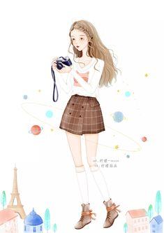 Chibi Girl, Kawaii Anime Girl, Girls Life, Cute Cartoon, Cute Drawings, Art Girl, Cool Girl, Fashion Show, Cover