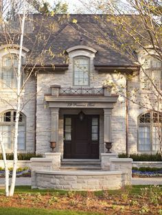 David Small Designs is an award winning custom home design firm. See a portfolio of our French Chateau project French Country Cottage, French Country Style, French Country Decorating, French Chateau Homes, French Provincial Home, Barn Style Doors, Castle House, Facade House, House Facades