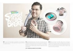Direct advertisement created by DDB, Peru for Listerine, within the category: Health. Street Marketing, Listerine, Bad Breath, Breathe, Direct Mail, Peru, Advertising, Fish, Gallery