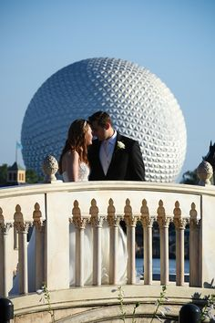 Explore the romance of Epcot at a portrait session in Walt Disney World
