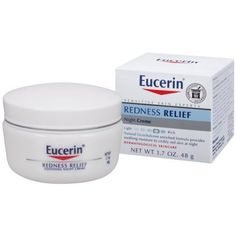 Eucerin Sensitive Skin Redness Relief Soothing Night Creme 1.7 Ounce