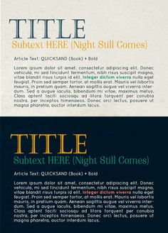 Title: Castellar Subtext: Night Still Comes Article text: Quicksand  Color Scheme (Acads vs. Non Acads) A. Acads for the top (light) vs. Non acads for the bottom (dark) I thought that this can represent how we are med students by day and total performers by night!   B. Acads for bottom (dark) vs Non Acads for top (light) This can represent how the dark days are for studying and the light days are for having fun with events. Med Student, Studying, Lorem Ipsum, The Darkest, Color Schemes, Have Fun, Students, Events, Thoughts