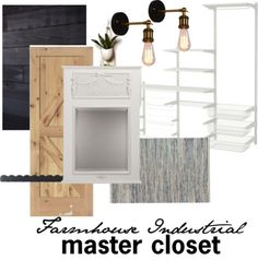 Farmhouse Industrial Master Closet Mood Board
