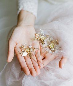 Bridal Hairpins Bridal Hairpiece SIENNA Hairpin by EdenLuxeBridal