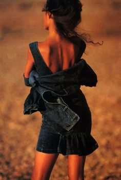 Byblos Jeans, Elle magazine, April 1988. Photograph by Eddy Kohli.