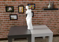 Low poly paper craft  diy paper sculpture  venus de milo 3d