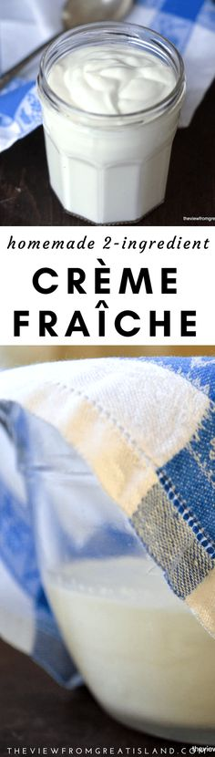 Homemade Crème Fraîche with just 2 ingredients you can make your own thick and creamy crème fraîche no more last minute trips to the supermarket to buy one of those overpriced little tubs! Top Recipes, Cheese Recipes, Cooking Recipes, Crema Fresca, Sweet Sauce, Wonderful Recipe, How To Make Cheese, How To Make Homemade, Spice Mixes