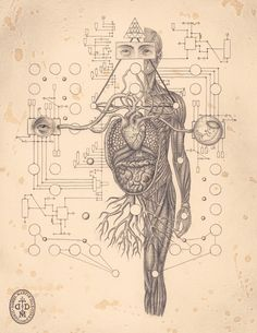 The Art of Daniel Martin Diaz / Self aware System / Sacred Geometry / The fractal nature of humanity