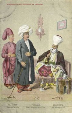 """Ottoman Turkey, Costumes, Medjmouaï Teçavir (1910s) Fruchtermann No. 105. Max Fruchtermann, 1852-1918. The most prominent early publisher of Ottoman postcards, at the age of seventeen he opened a frame-shop at Yüksekkaldirim Istanbul. It is hard to underestimate his role in the publishing scene that followed. He was one of the first """"editeurs"""" (if not the very first) to create postcards depicting the Ottoman Empire."""