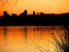 Downtown Dallas @ sunset from White Rock Lake
