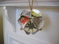 summerfete: tutorial to make Christmas card bauble