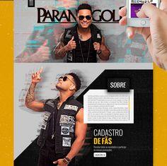 Criação do layout do novo site do Parangolé - Tony Salles