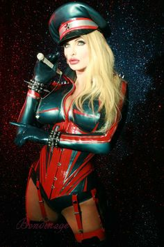 Latex Aviator outfit