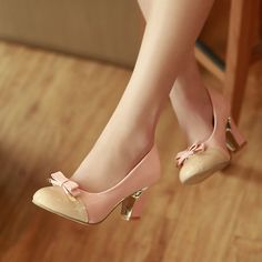 Aliexpress.com : Buy 2013 New Hot sale Women's femal shoes vintage fashion princess thick heel bow single high heels shoes platform Pumps from Reliable shoes suppliers on ENMAYER CO., LIMITED $25.99